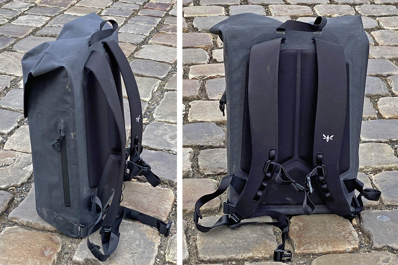 Apidura City Backpack, waterproof bikepacking tech in city commuter bag,details