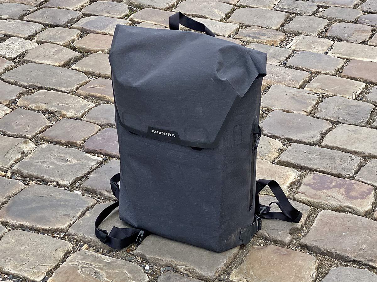 Apidura City Backpack, waterproof bikepacking tech in city commuter bag