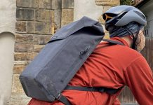 Apidura City Backpack, waterproof bikepacking tech in city commuter bag, riding