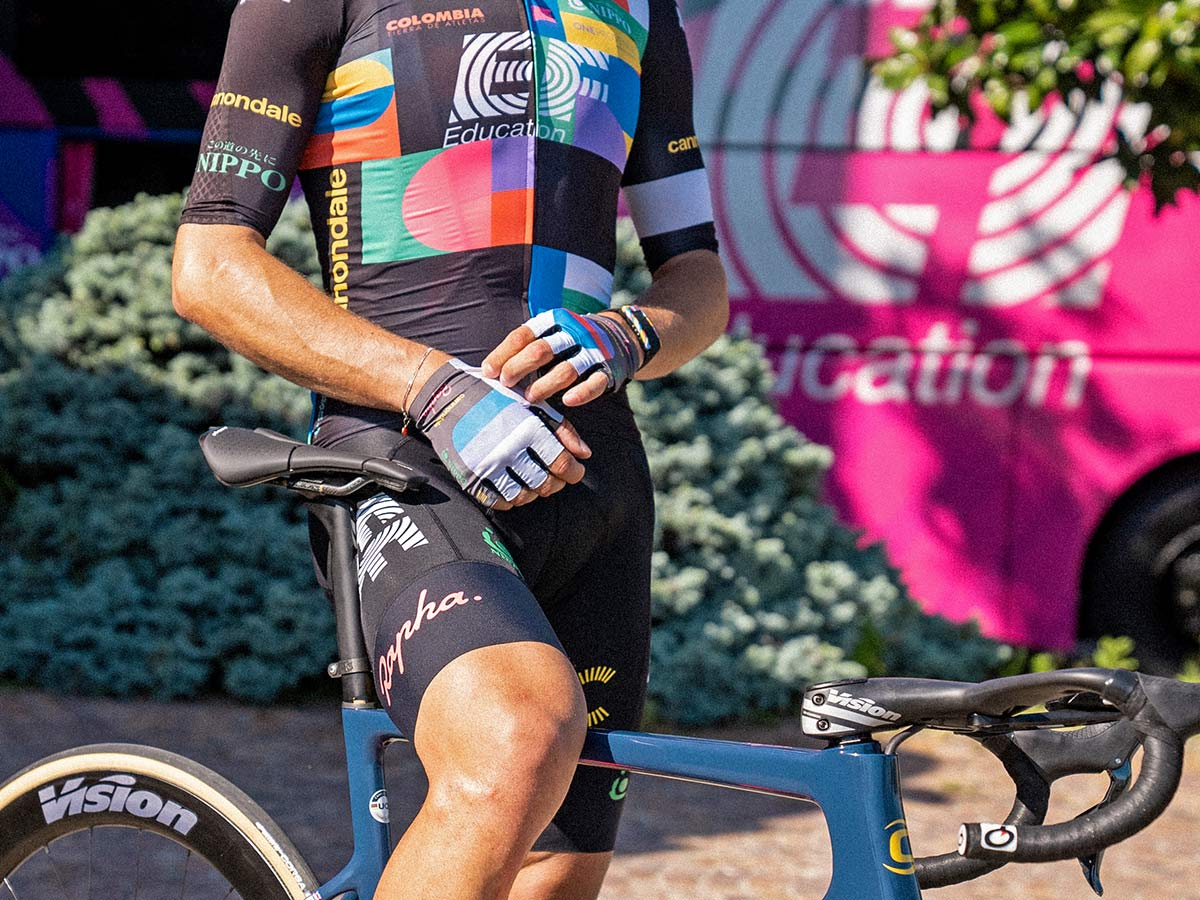 EF Pro Cycling colorful Rapha Euphoria switch-out kit at 2021 Giro d Italia,jersey bib shorts gloves