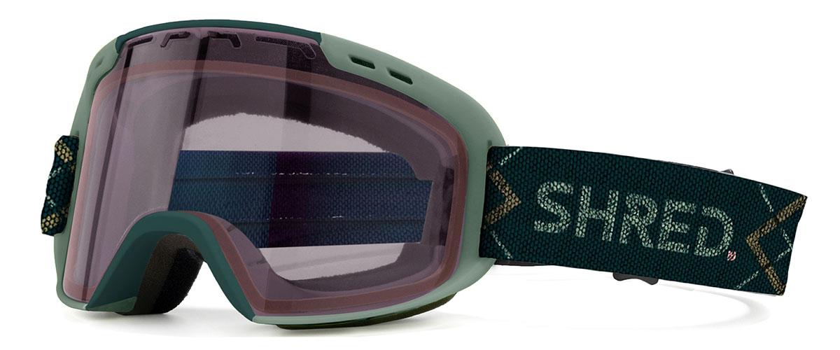 shred amazify mtb+ goggles bigshow recycled plastic bottles strap