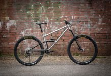 starling murmur stainless steel enduro mountain bike frame raw finish