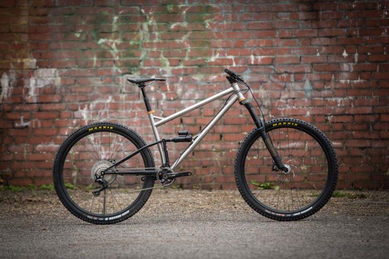 starling murmur stainless steel enduro mountain bike frame raw finish