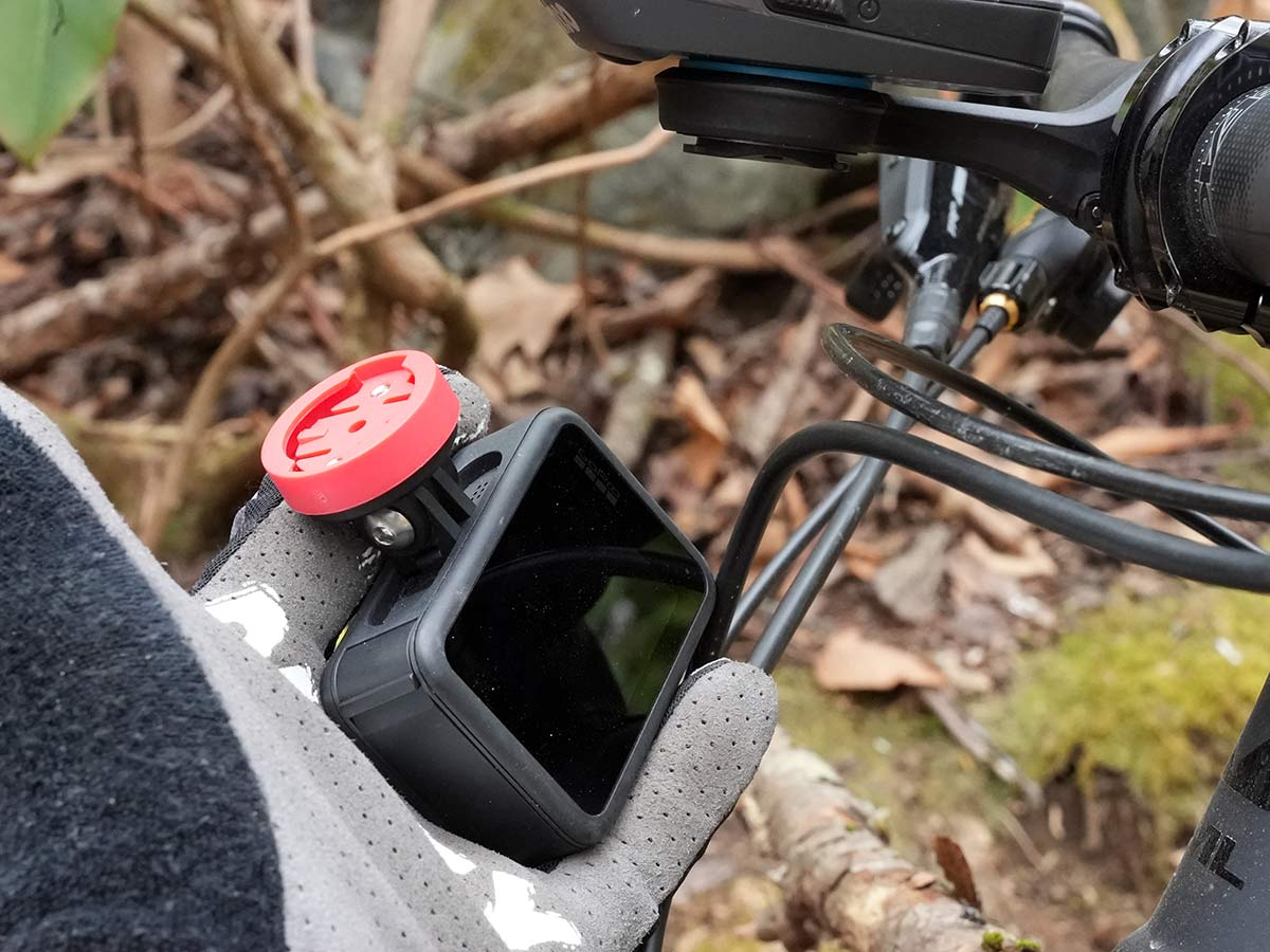 KOM cycling twist-off gopro mount for out front cycling computer mounts