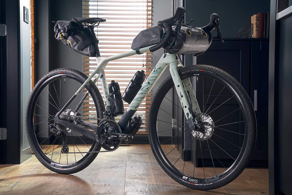 All-new 2021 Canyon Grizl carbon gravel bike bikepacking adventure, loaded