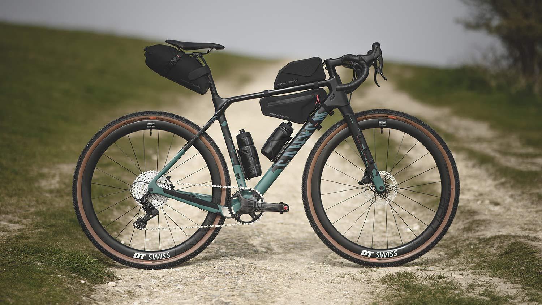 All-new 2021 Canyon Grizl carbon gravel bike bikepacking adventure, Apidura loaded