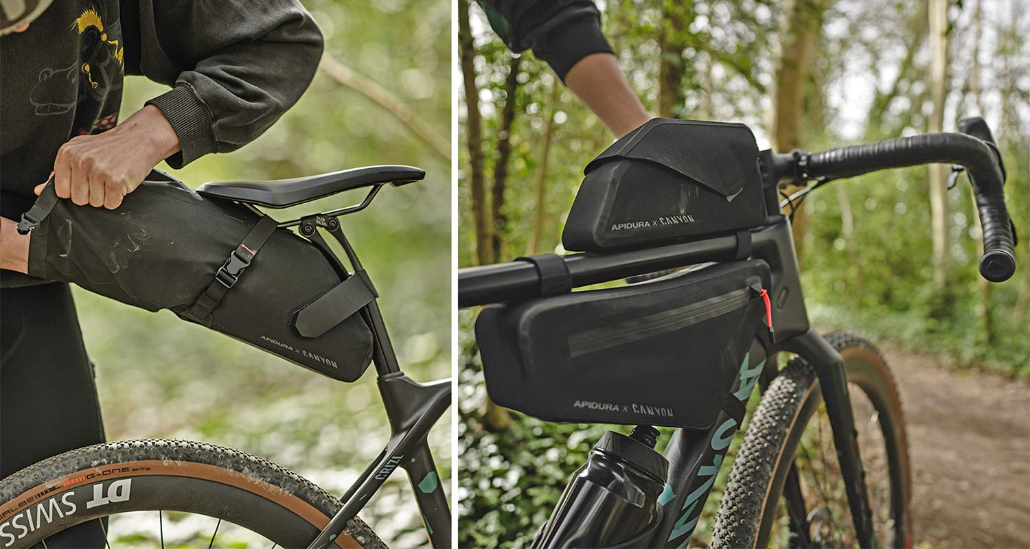Apidura x Canyon Grizzly off-road adventure bikepacking bags for Grizl gravel bike,details