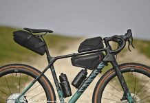 Apidura x Canyon Grizzly off-road adventure bikepacking bags for Grizl gravel bike, Canyon Grizl CF SLX bike
