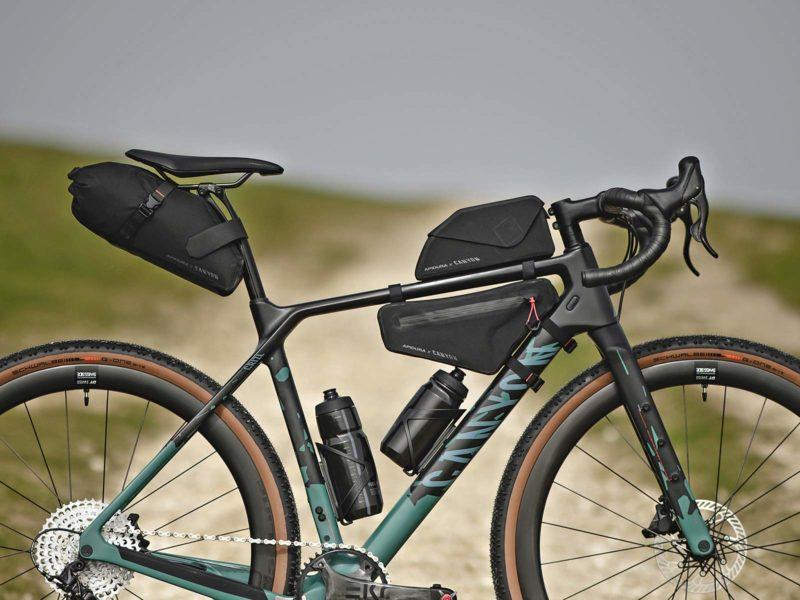 Apidura x Canyon Grizzly off-road adventure bikepacking bags for Grizl gravel bike,Canyon Grizl CF SLX bike
