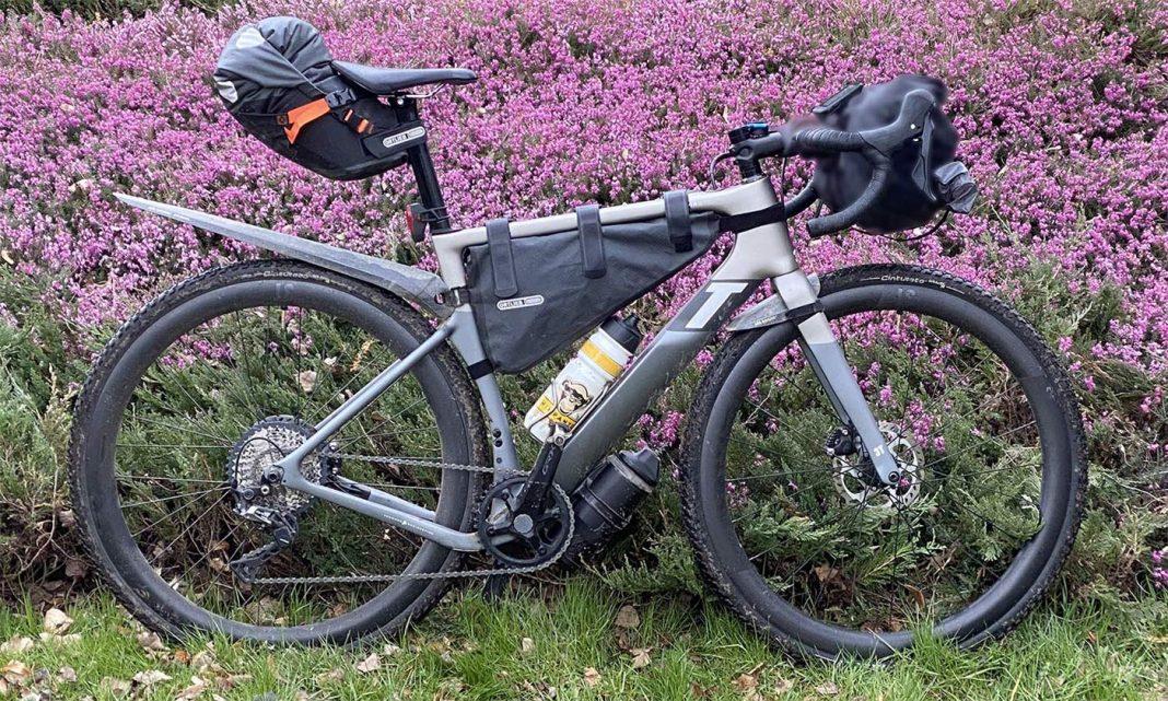 3T Exploro Race Max Boost gravel e-bike powered by ebikemotion, bikepacking still life