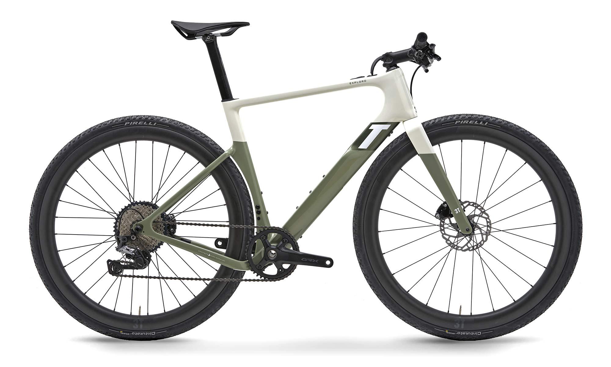 3T Exploro RaceMax Boost gravel e-bike, stealth ebikemotion X35 pedal-assist,flatbar
