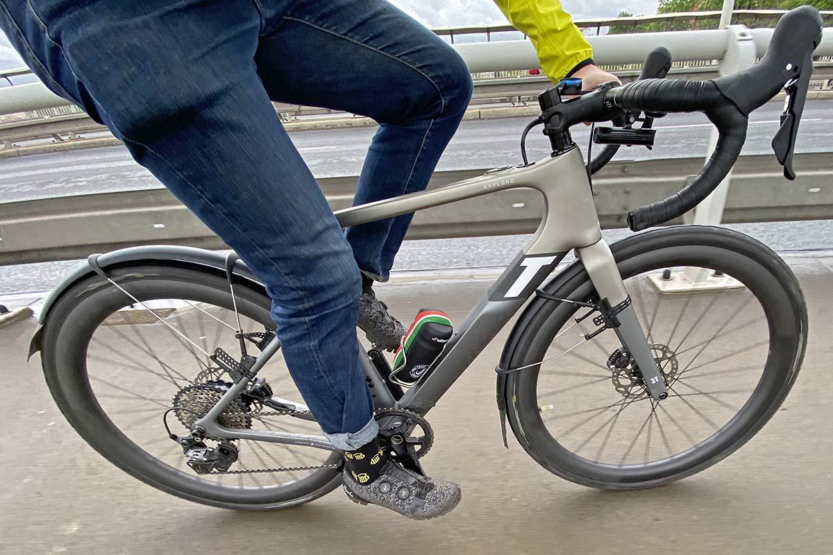3T Exploro RaceMax Boost gravel e-bike ebikemotion X35 review,commuter fenders