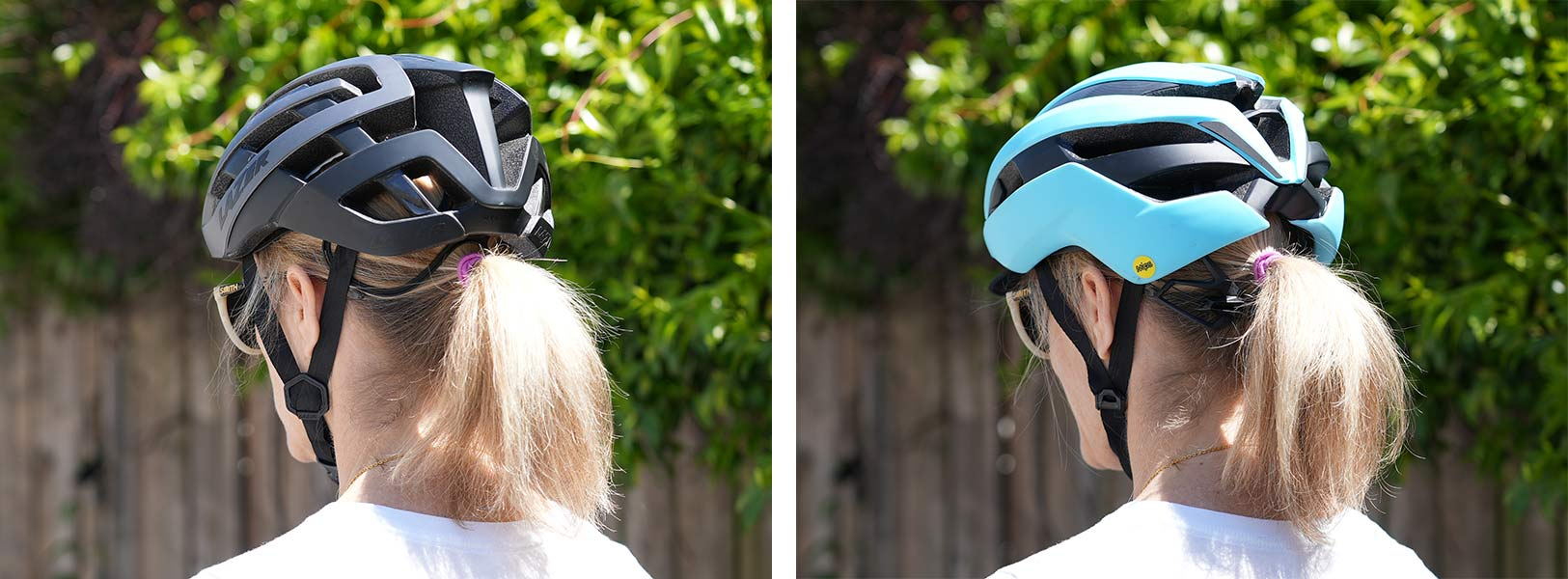 womens bicycle helmets that fit a ponytail