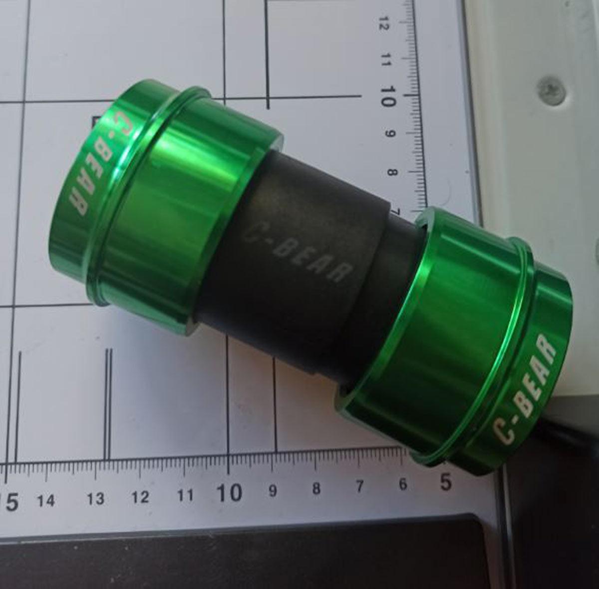 c-bear bottom bracket ceramic bearings green anodization
