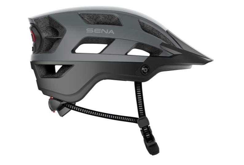 sena mountain bike helmet with bluetooth wireless communication and walkie talkie