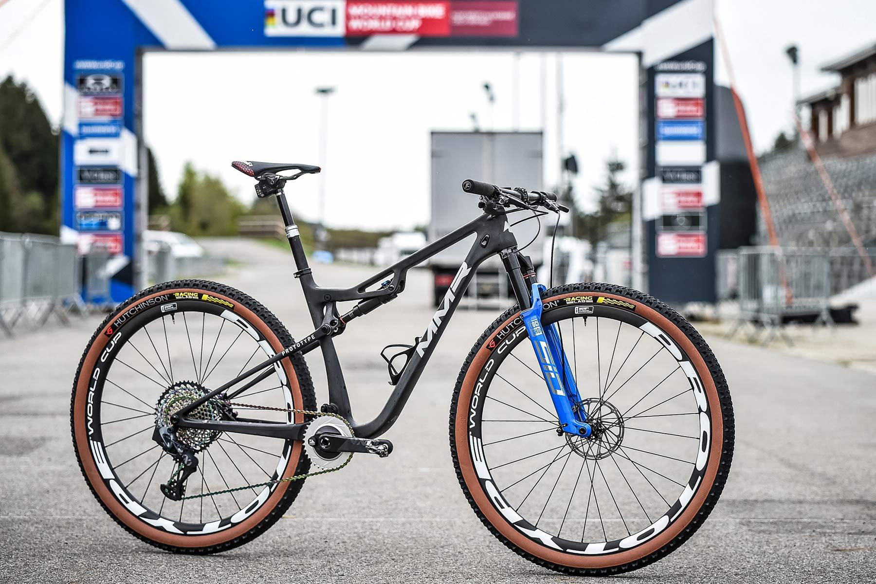 2021 MMR Kenta 29 prototype XC race bike, 100mm full-suspension carbon cross-country mountain bike, complete