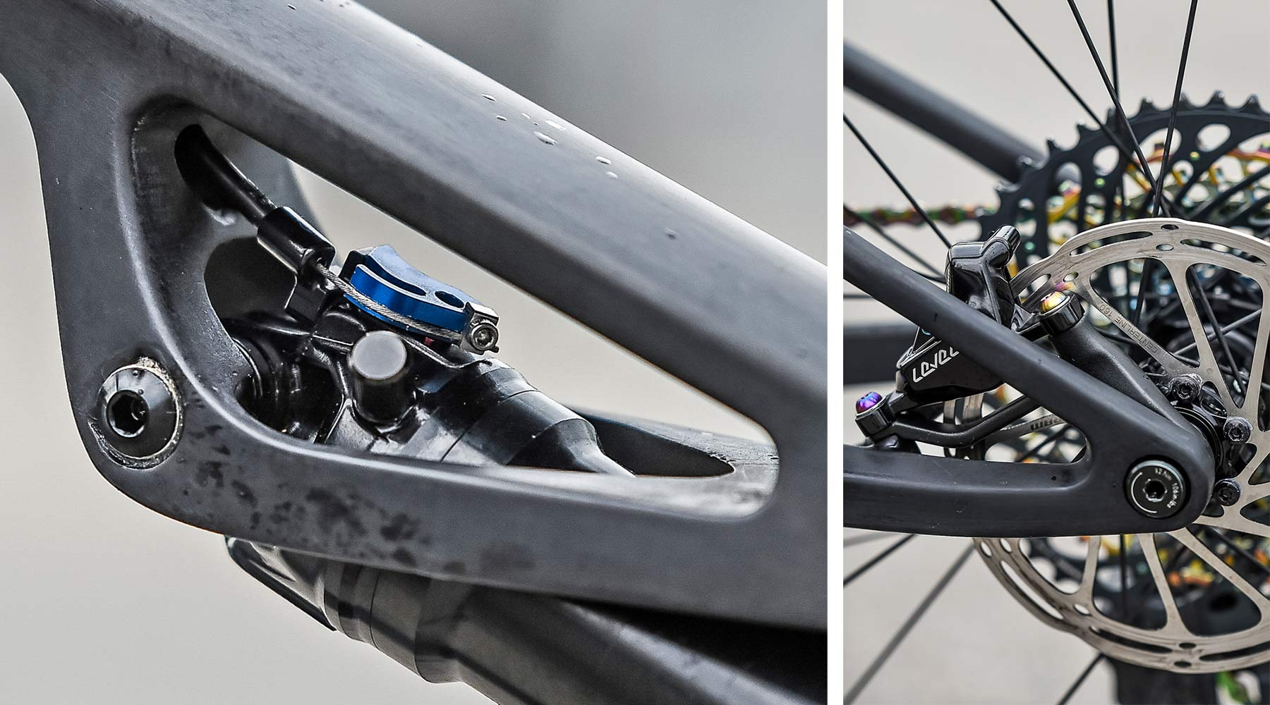 2021 MMR Kenta 29 prototype XC race bike, 100mm full-suspension carbon cross-country mountain bike frame details