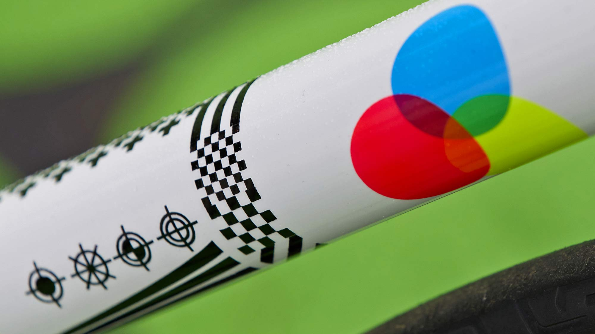 2021-2022 Speedvagen Surprise Me series, full-custom Vanilla workshop road bike with surprise paintjob inspired by printers proofs, The Painters Proof CMYK edition registration marks