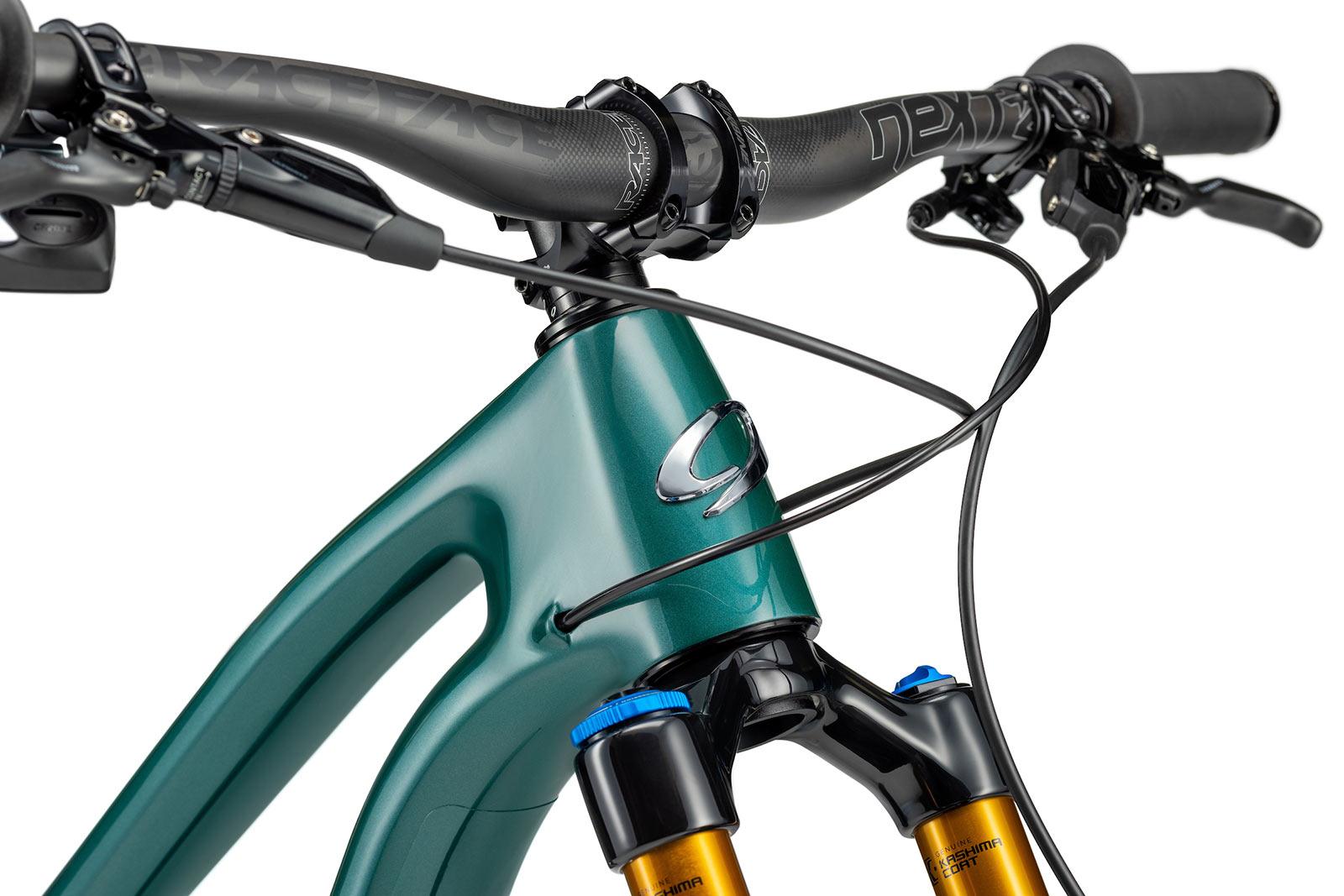 new niner jet 9 rdo trail mountain bike closeup head tube details