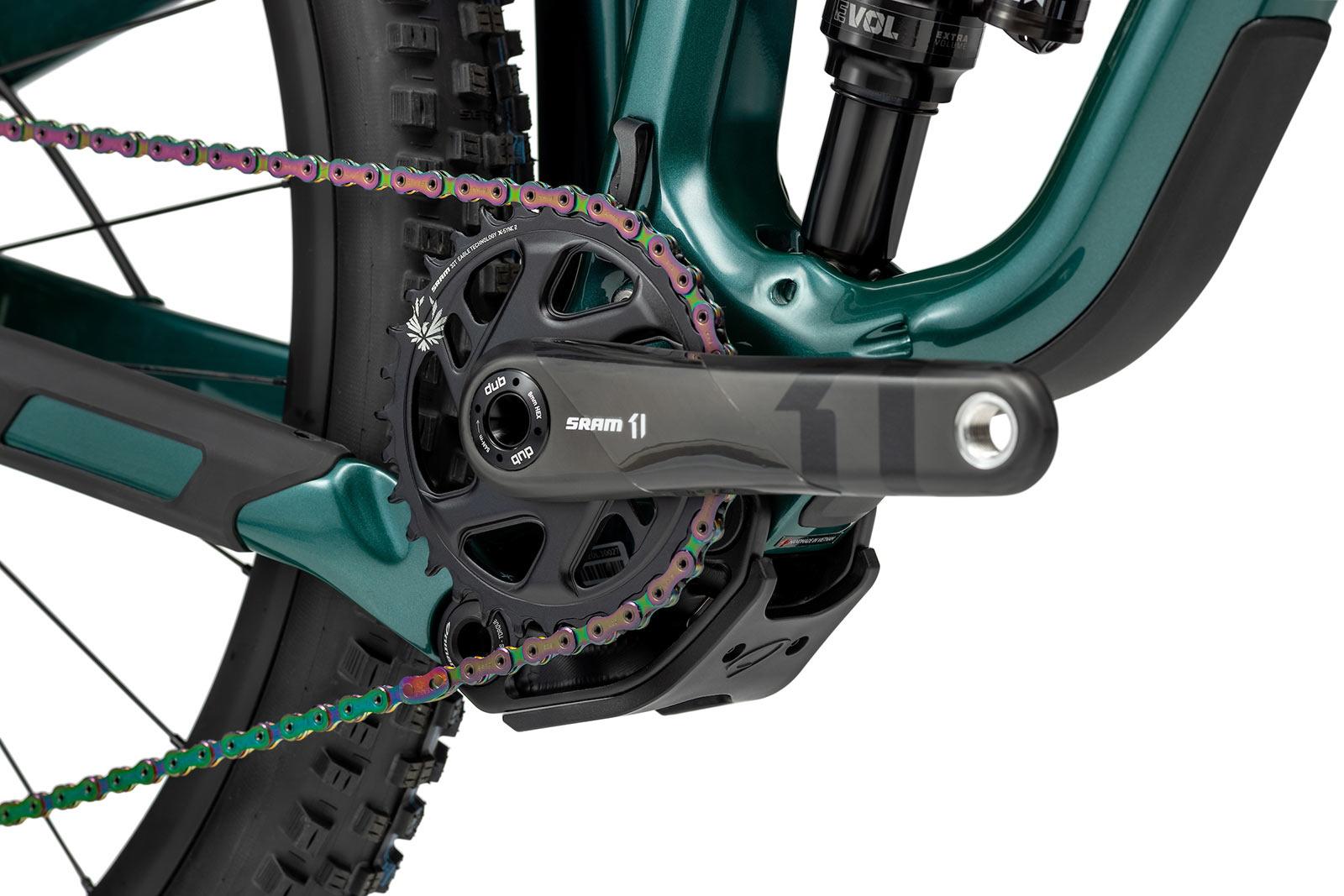new niner jet 9 rdo trail mountain bike closeup crankset details