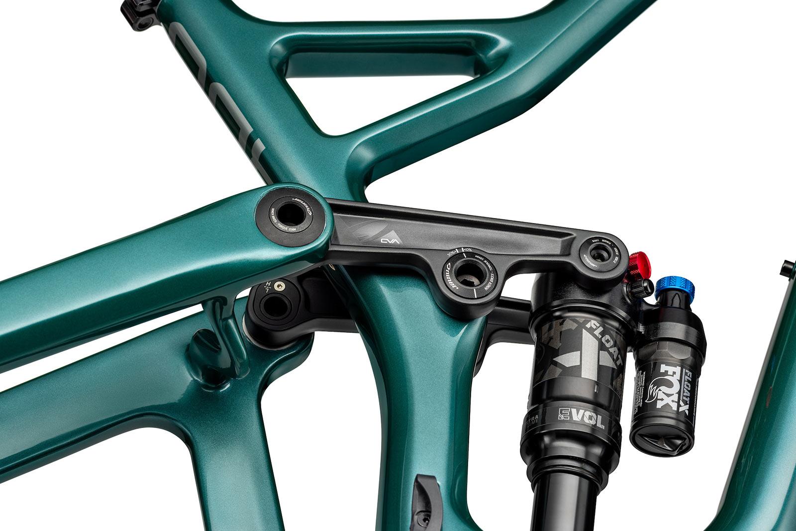 new niner jet 9 rdo trail mountain bike closeup shock linkage details