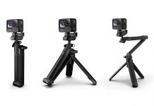 new gopro 3-way grip for 2021 with wider tripod base and swivel head