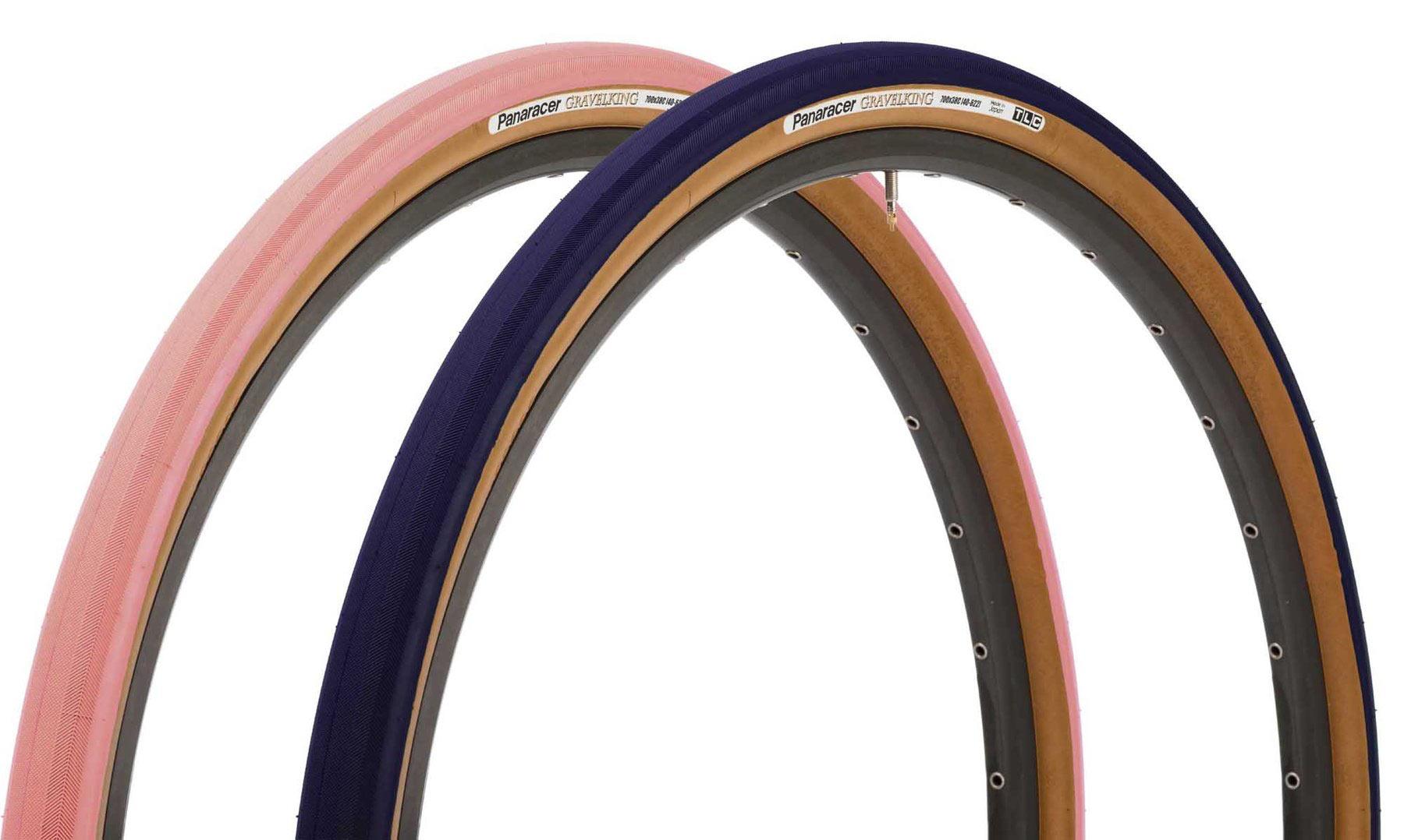 2021 limited edition pink and blue colors for panaracer gravelking slick gravel bike tires