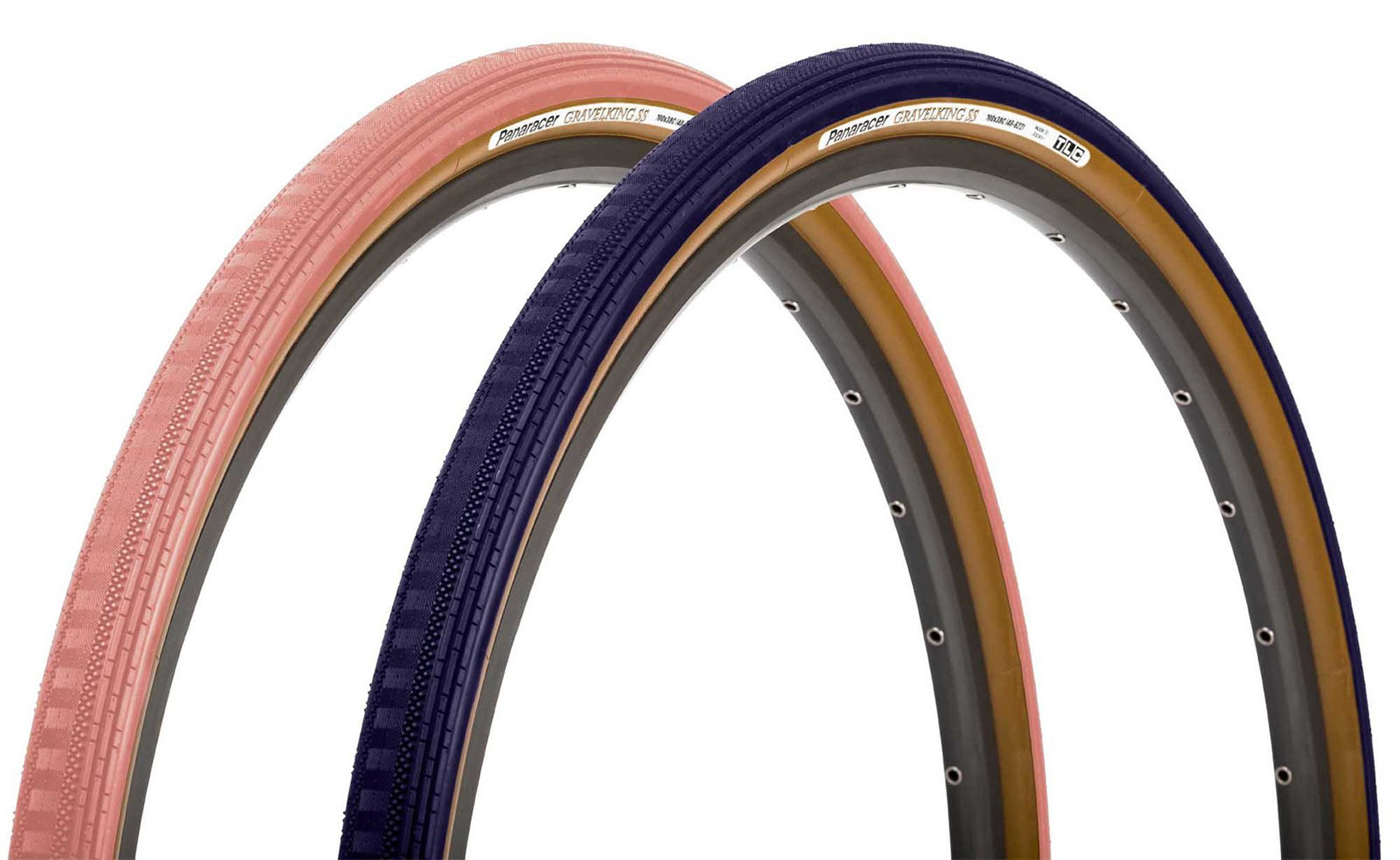 2021 limited edition pink and blue colors for panaracer gravelking SS semi slick gravel bike tires