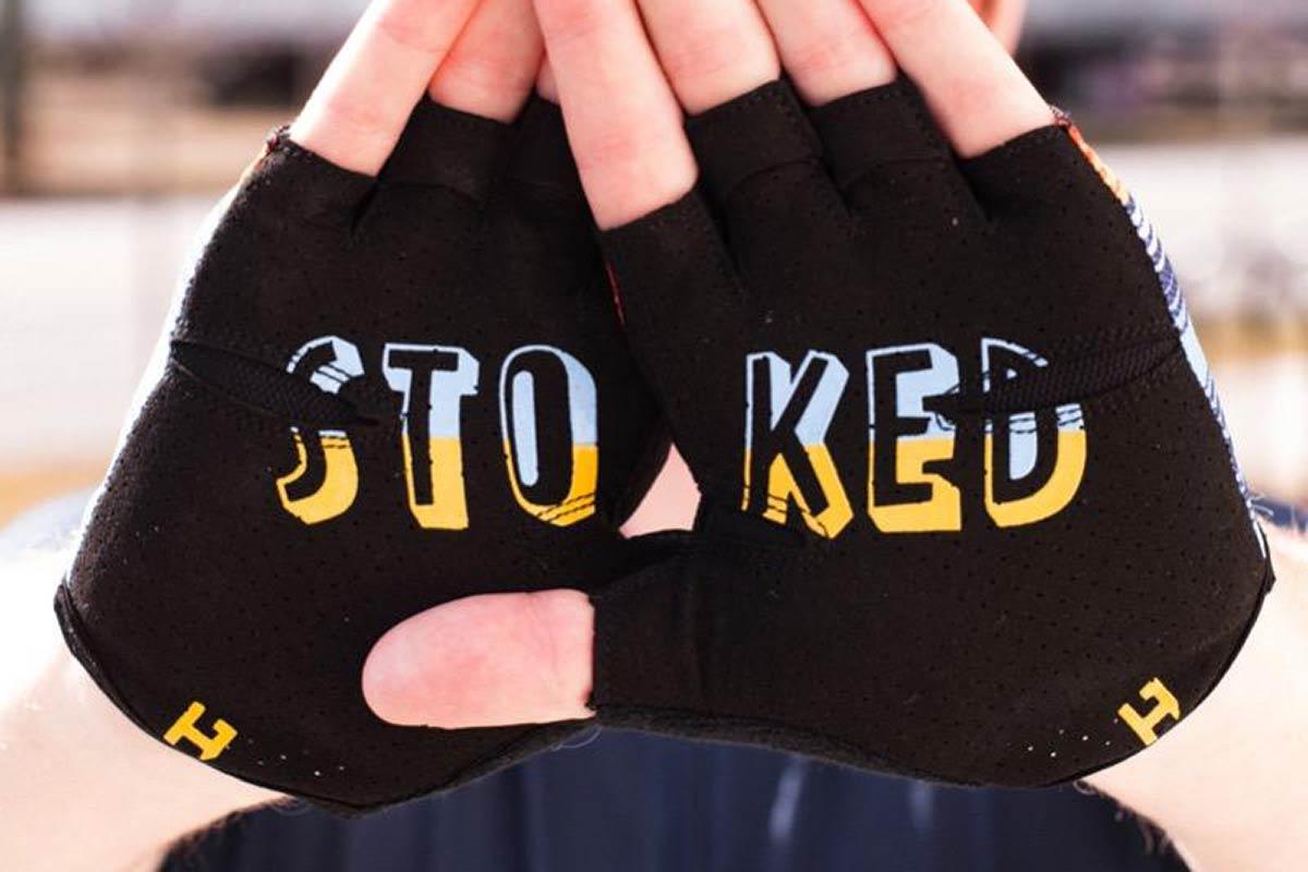 handup short fimger gloves clarino leather palm