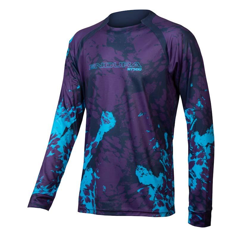 Endura MT500 Smok'n Prints, mens Animo jersey, electric blue