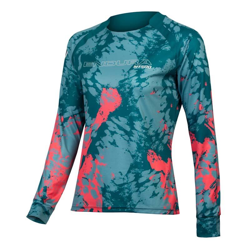 Endura MT500 Smok'n Prints, womens Animo jersey, Spruce Green