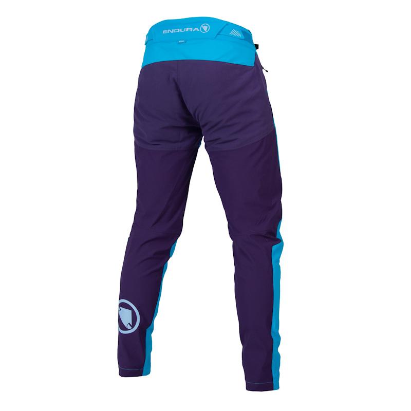 Endura MT500 Smok'n Prints, women's Burner II pant, Electric Blue, back