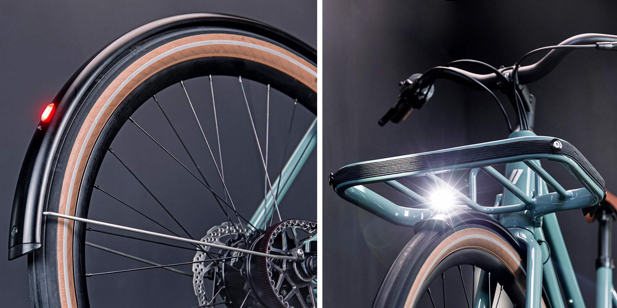 2021 Schindelhauer Emil Emilia porteur ebikemotion Pinion urban commuter city e-bikes,light details