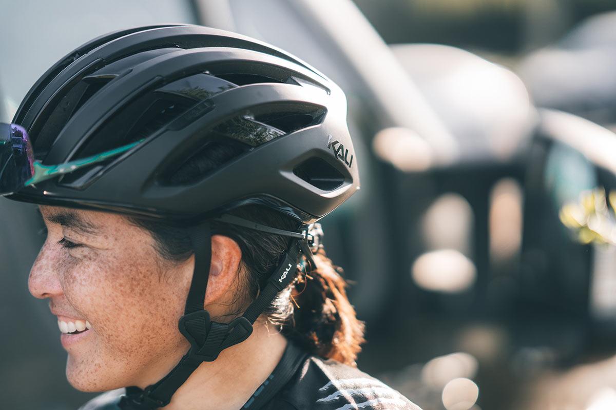 kali grit road and gravel bike helmet shown from side