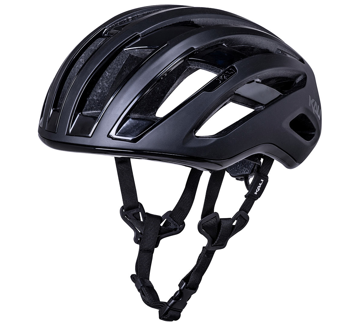 kali grit road and gravel bike helmet shown from side front angle
