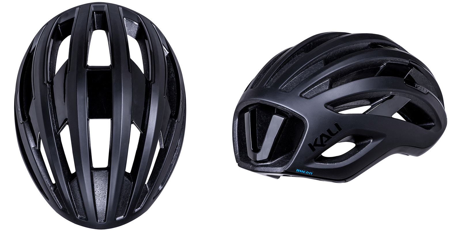 kali grit road and gravel bike helmet shown from rear and top