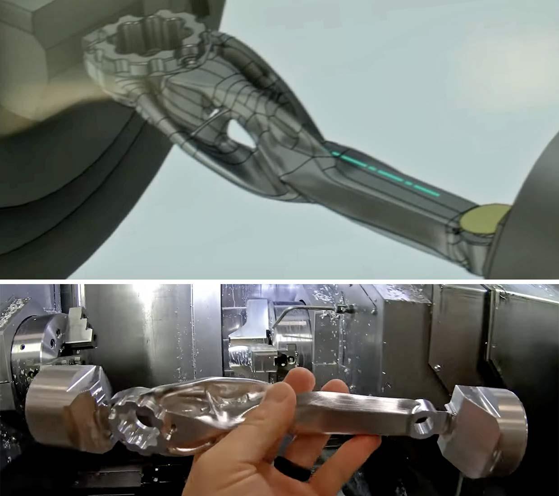 SRAM Autodesk Ai generative design prototype MTB cranks, machine-learning artificial intelligence development,design to proto