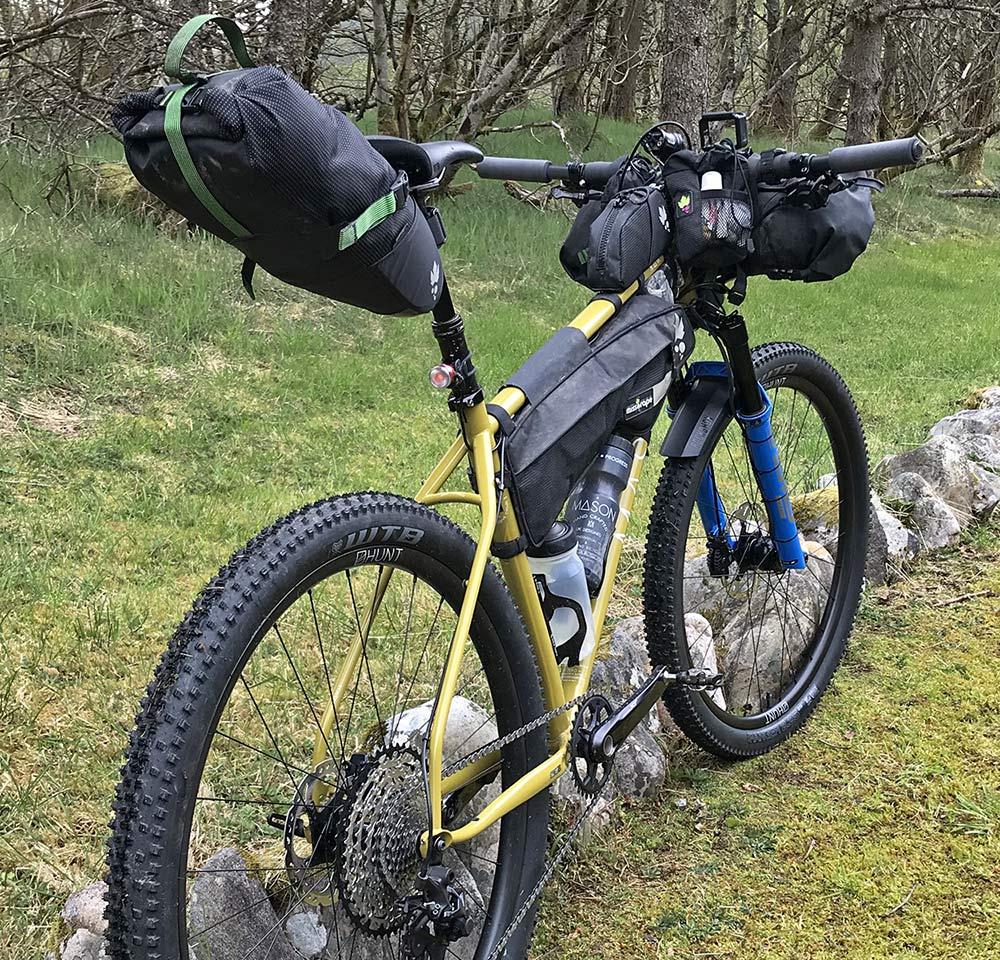 Mason RAW steel bikepacking mountain bike hardtail prototype UK-made, Josh Ibbett HT550,rear end