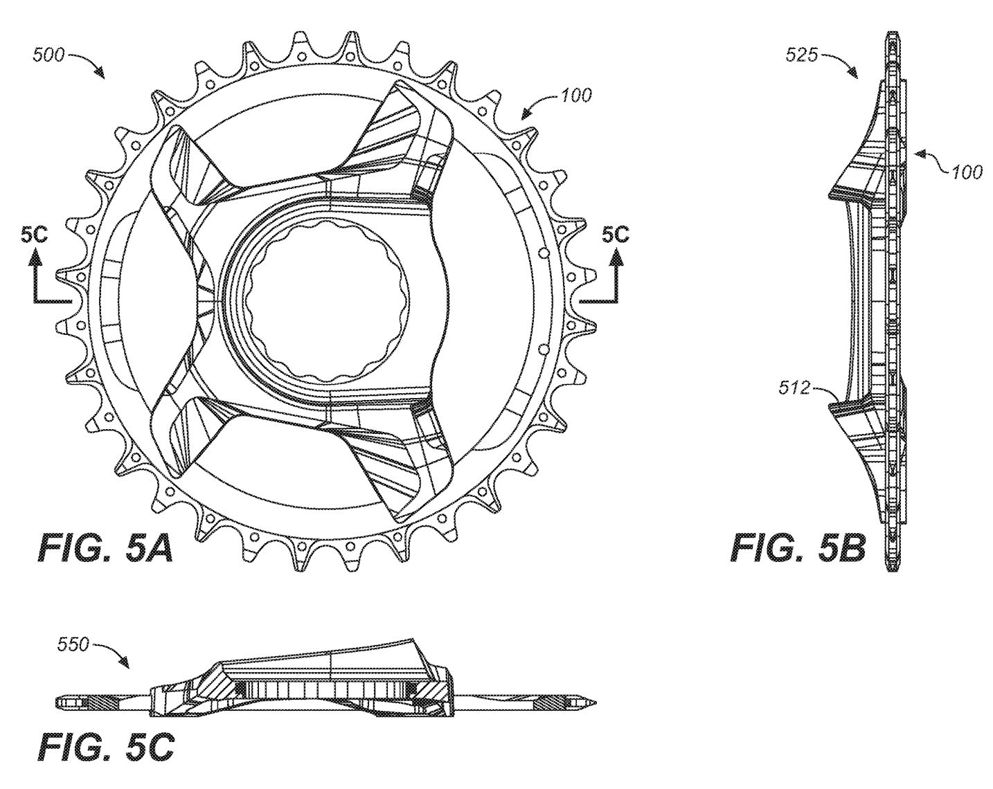 carbon chainring structure