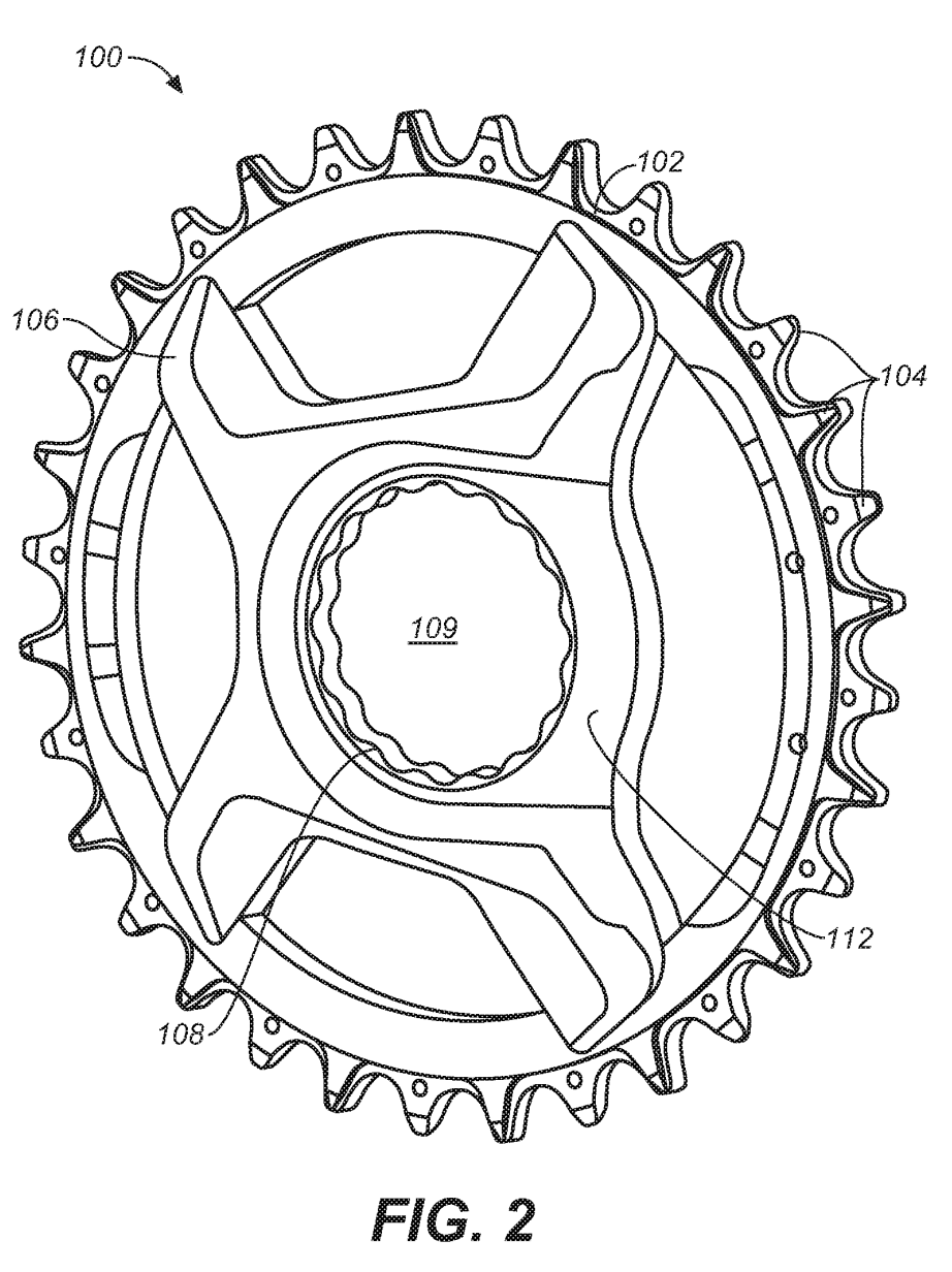 Carbon chainring Fig 2