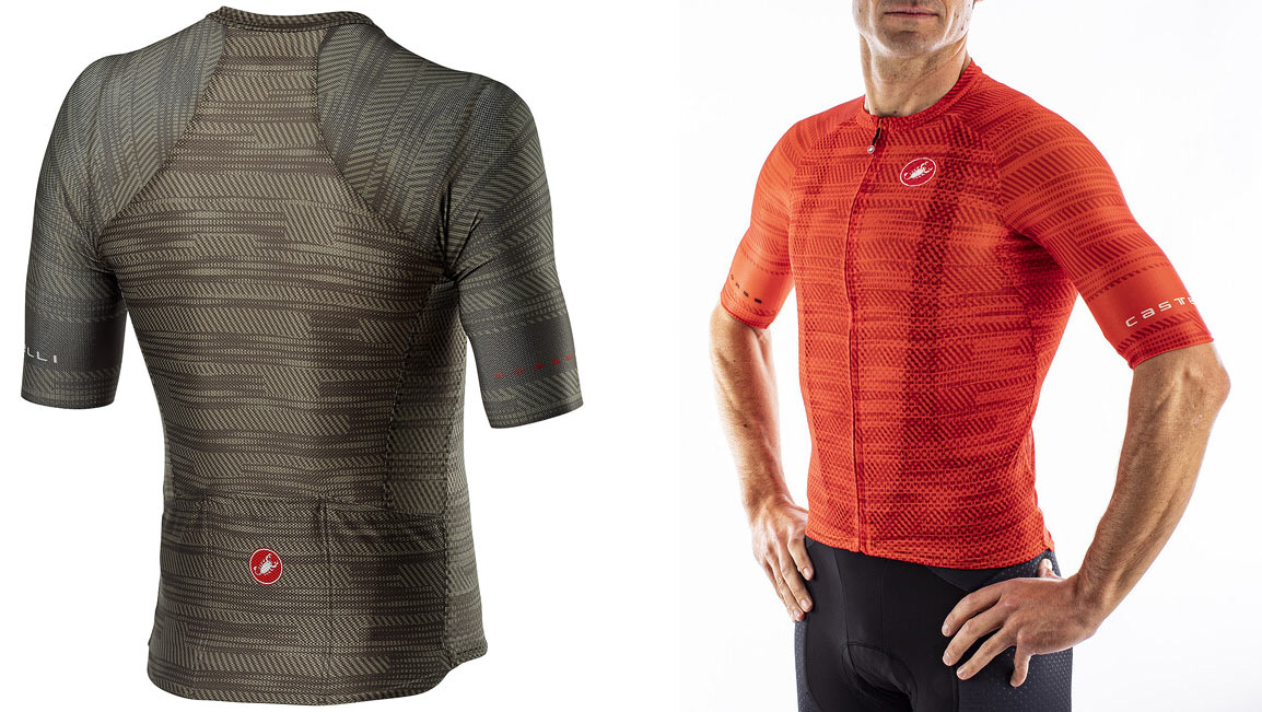 castelli climbers jersey has longer sleeves for more aerodynamic sun protection