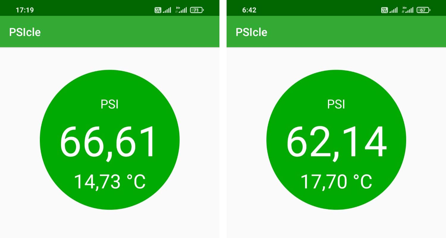 Rover PSIcle tire pressure sensor, lightweight wireless battery-free tubeless-compatible NFC tire pressure monitoring system, bike TPMS,road pressure drop
