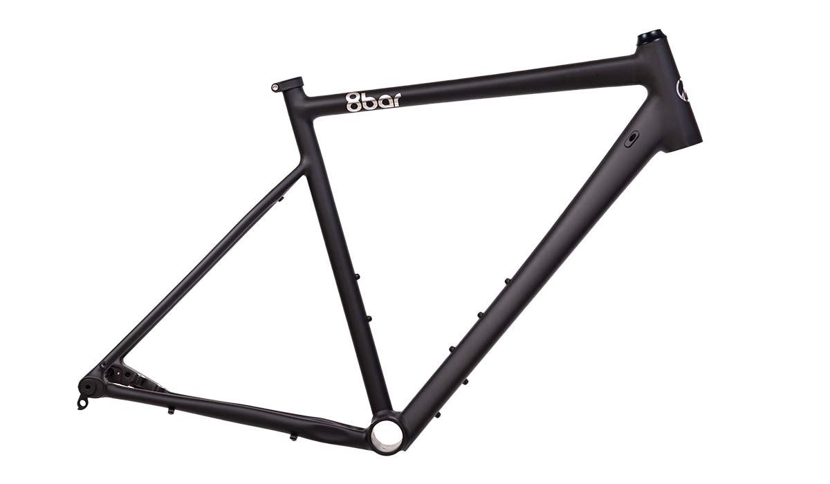 8bar Mitte v3 alloy all-road bike, affordable adjustable 2in1 road and gravel bike,frame only