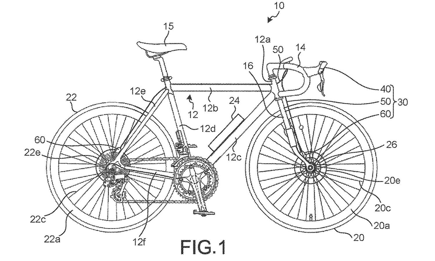 shimano electronically controlled brakes for road bikes patent drawing concept