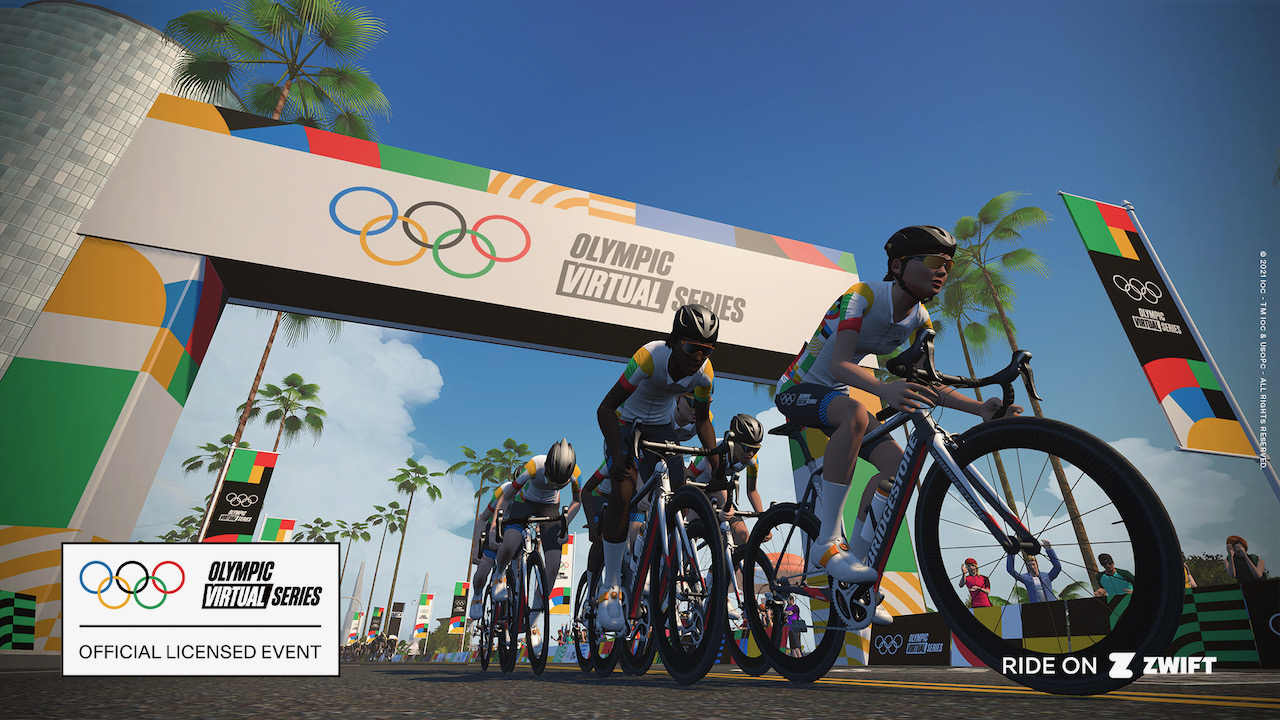 Off the front Zwift Olympics