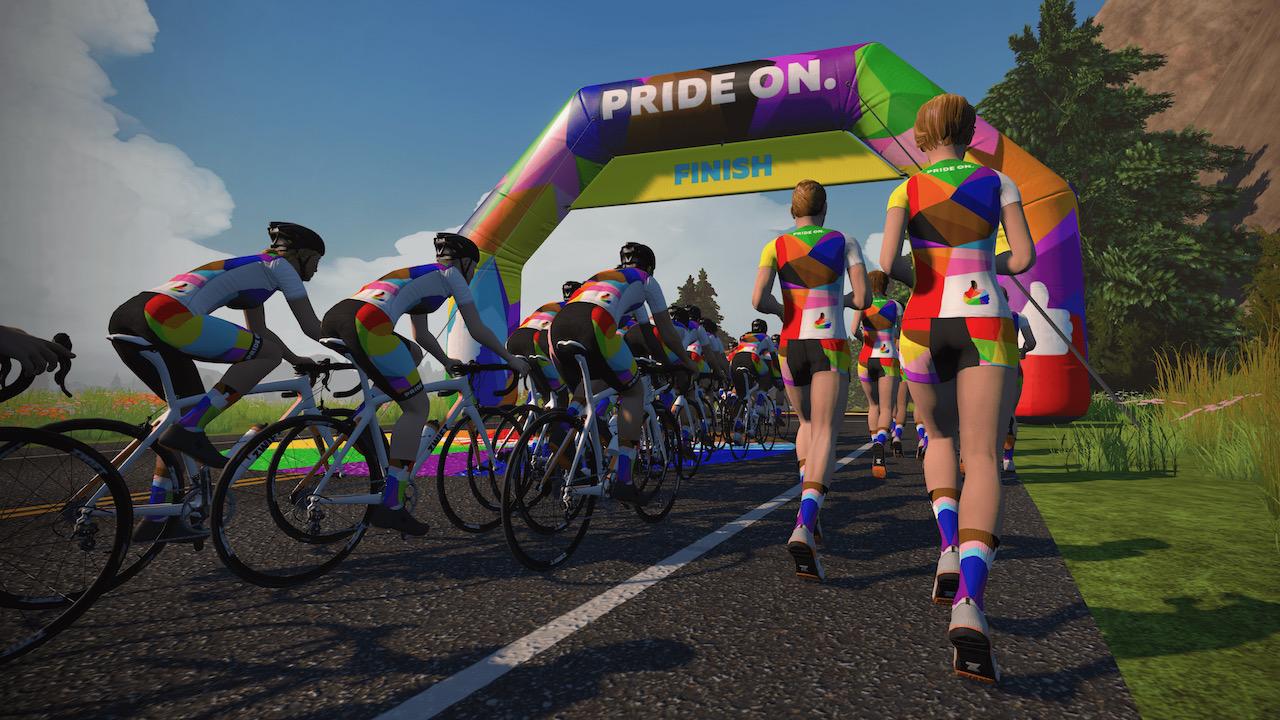 Pride-On Zwift running
