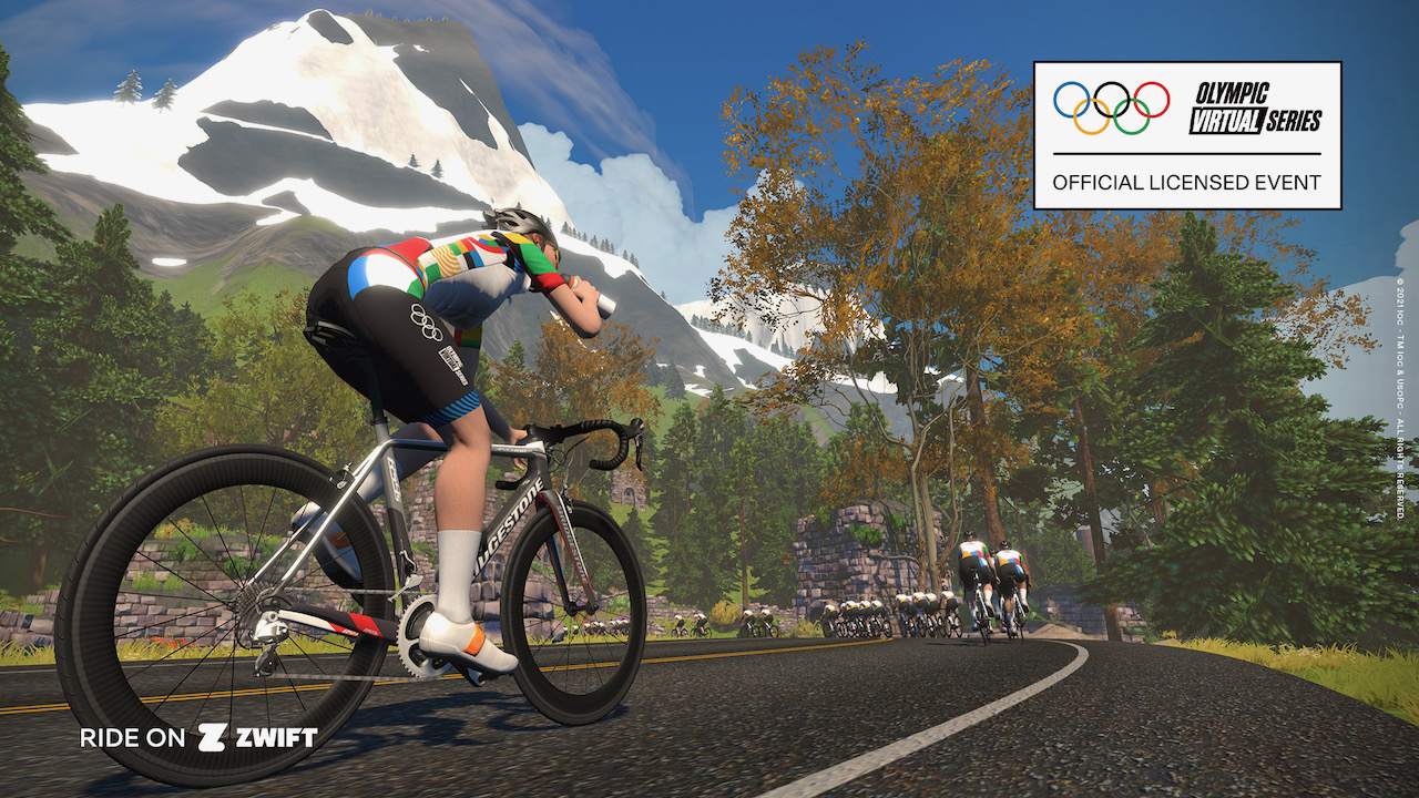 Zwift olympic series riding