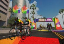 Zwift riding with pride