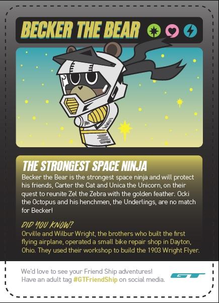 GT Friend Ship BMX, Space Ninja playing card