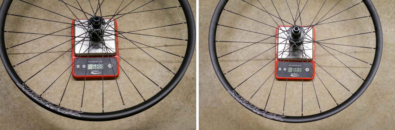 Atomik ALGR aluminum gravel wheels with BERD spokes actual weight